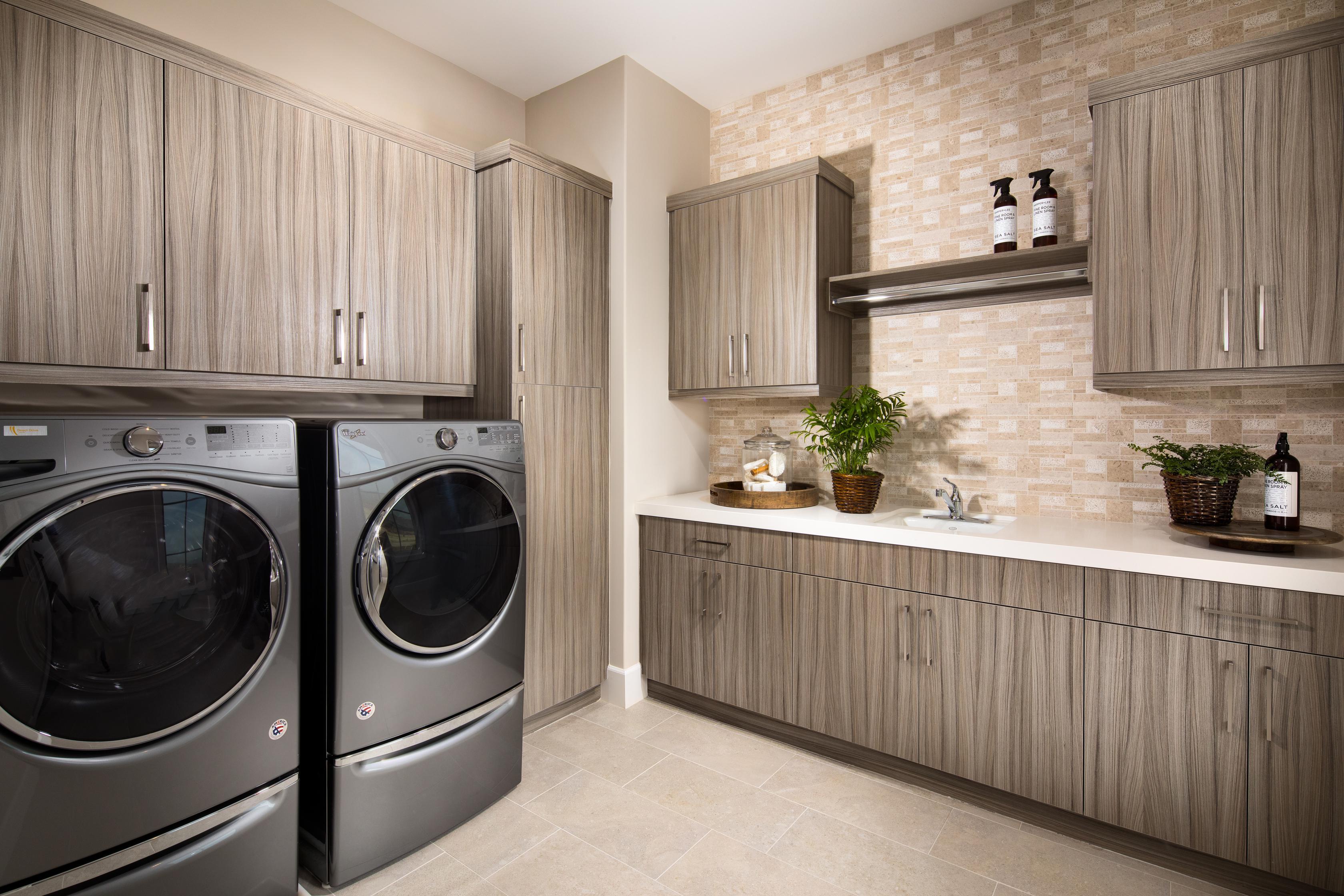 Modern laundry room.