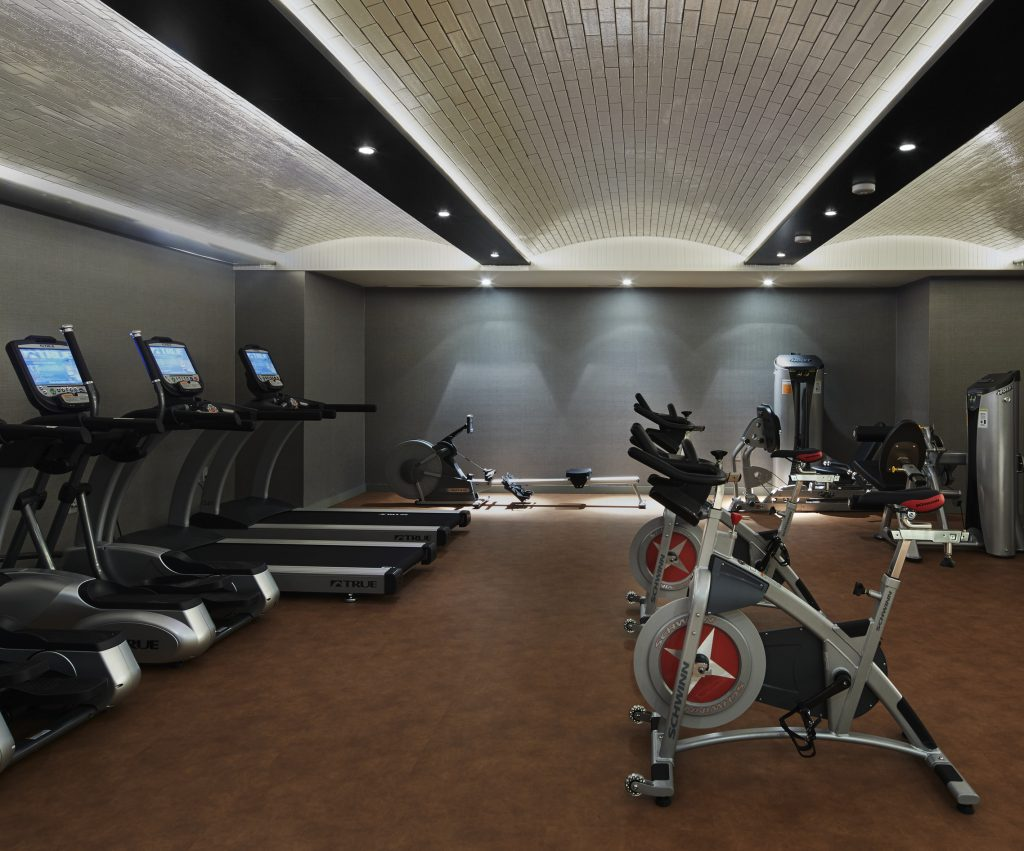 Gym in a New York City condo building.