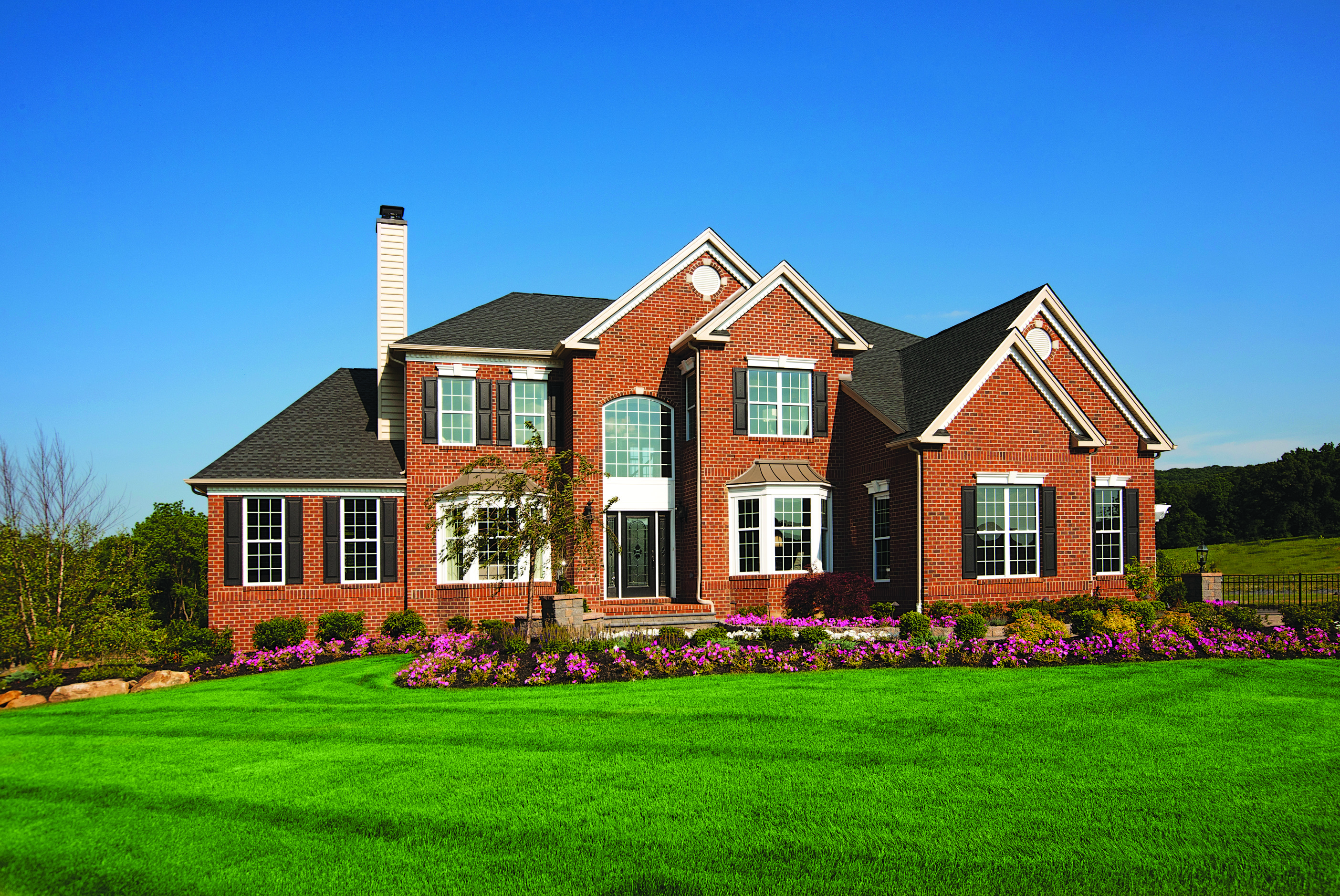 Exterior of suburban home designed for multigenerational living.