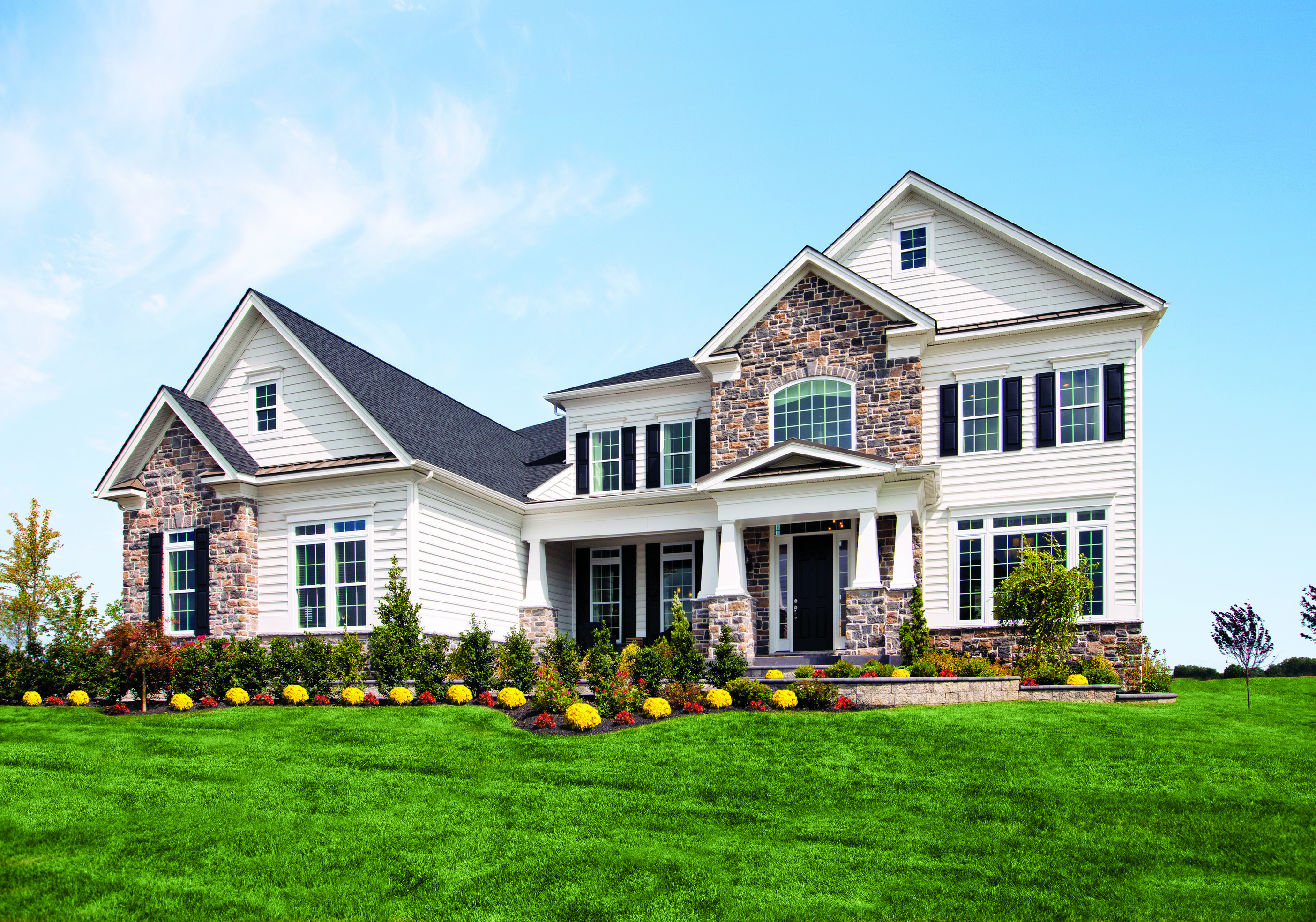 Toll Brothers Hollister model home located in New Castle, DE