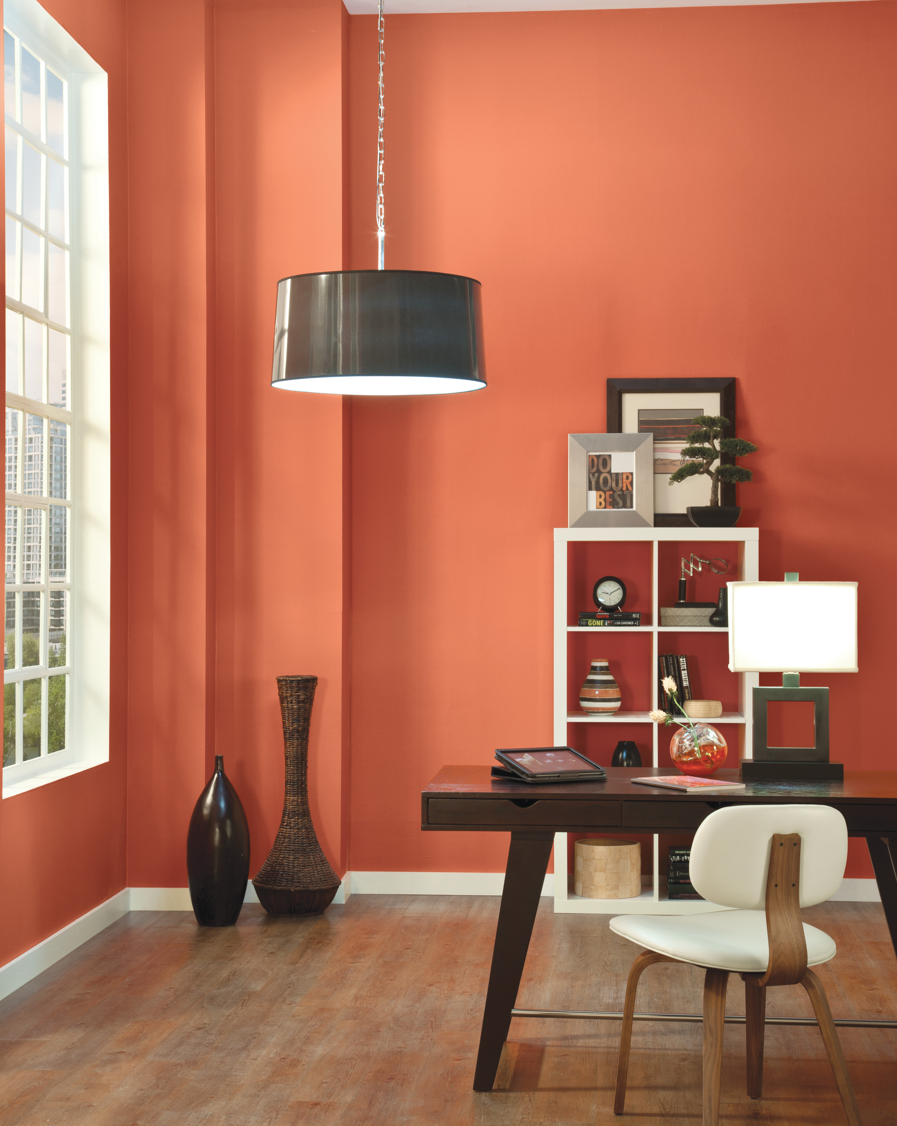 Southern Exposed Orange Wall with Warm Tones