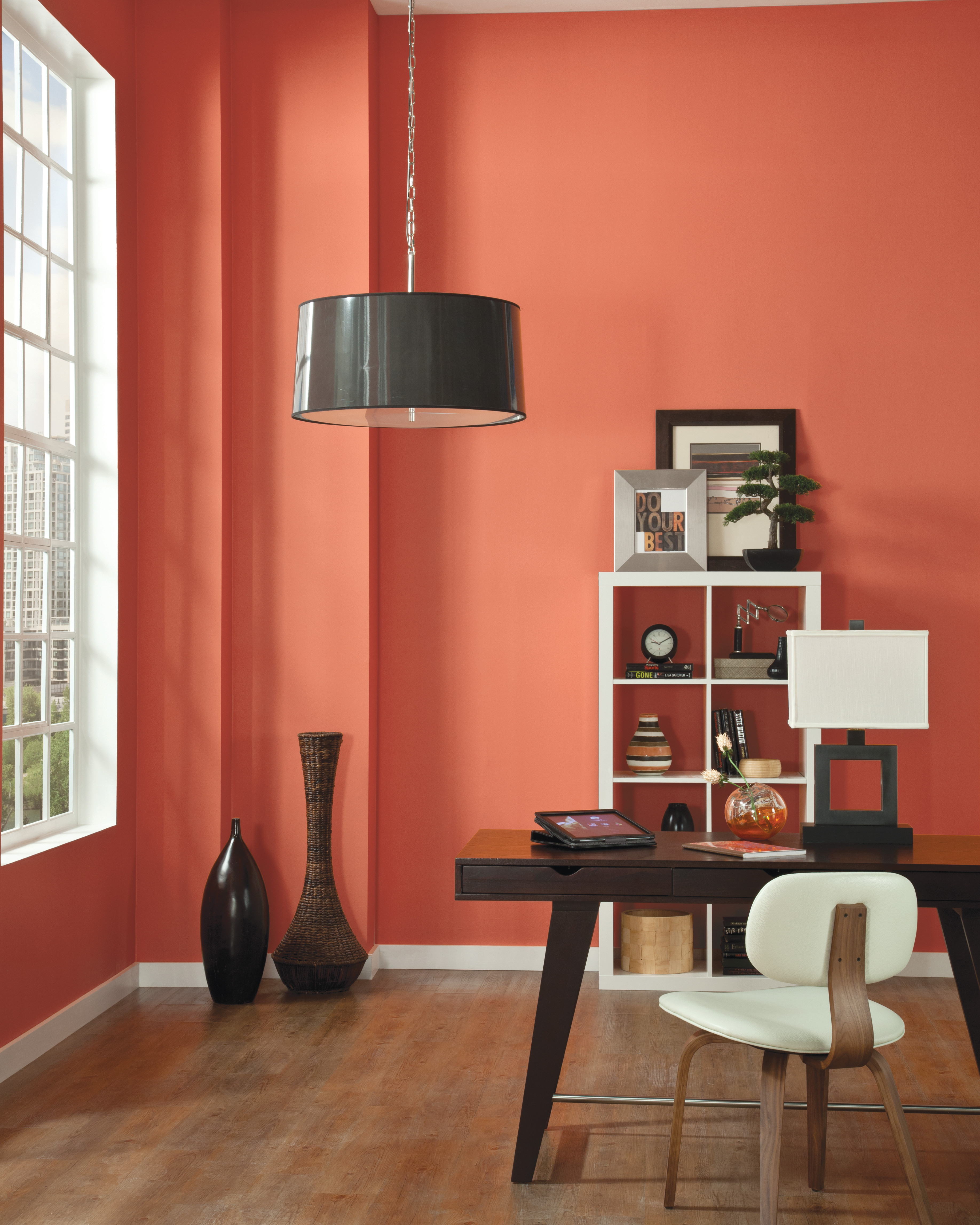 Orange Wall Exposed to Light