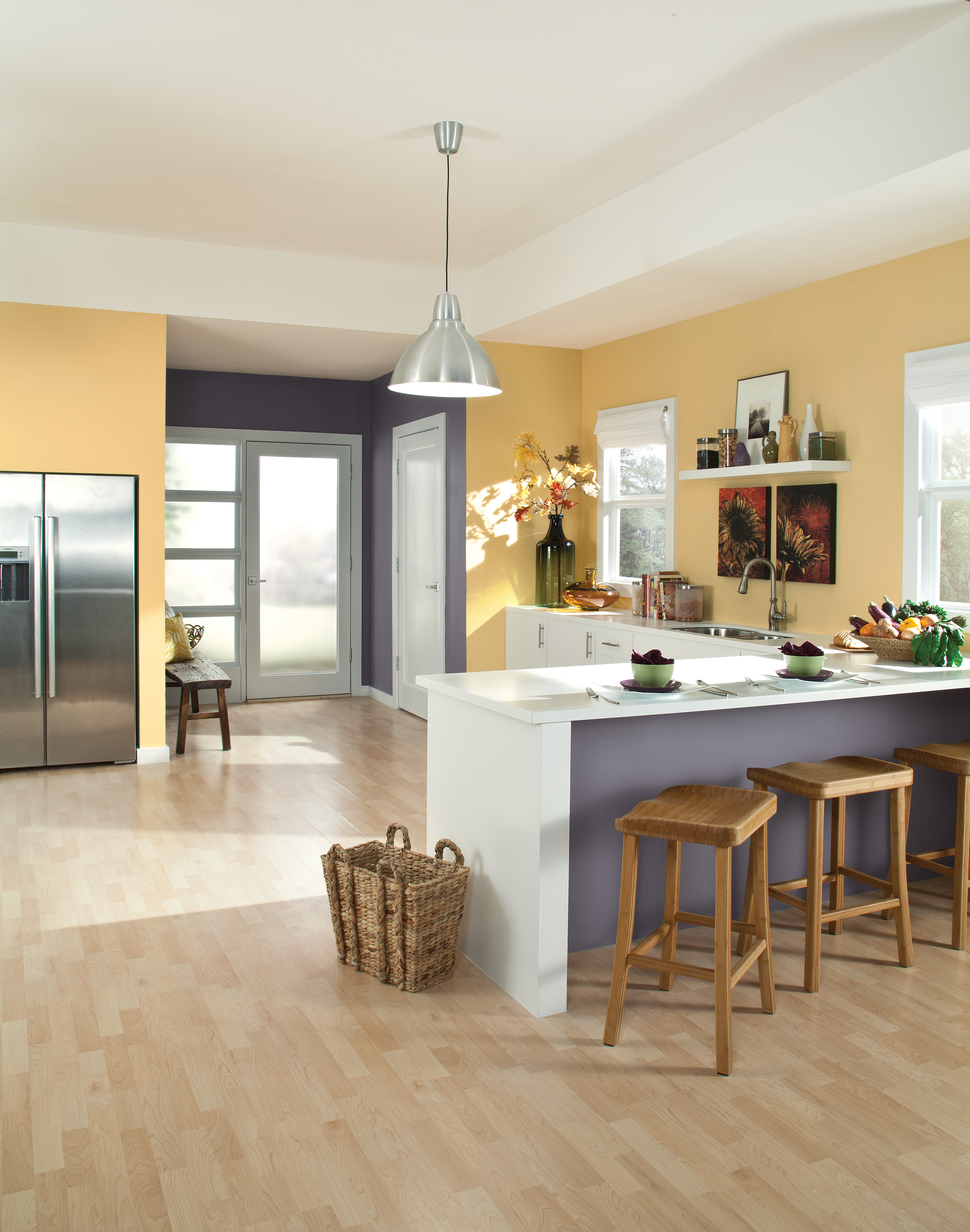 Kitchen with Coordinated Color Scheme