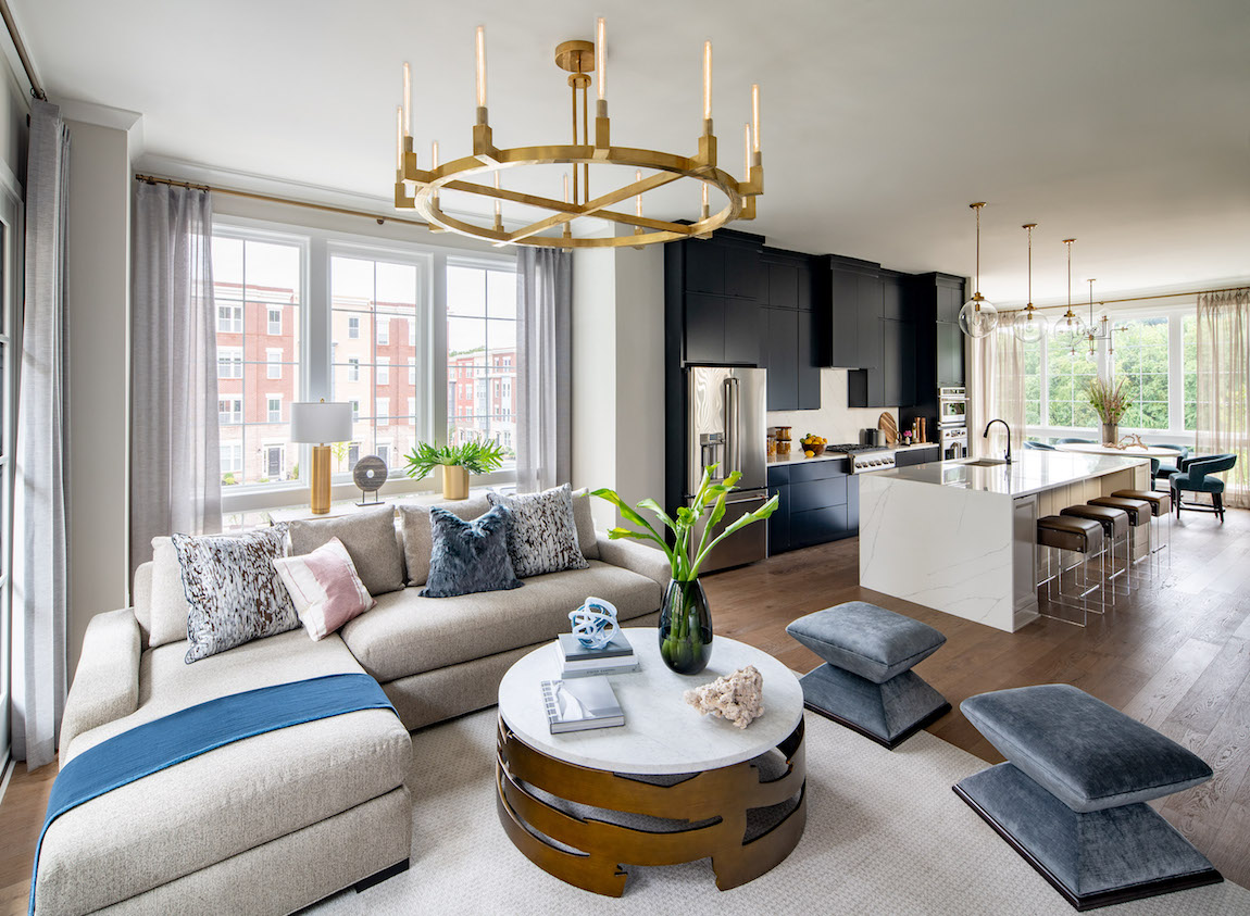 Living Room in a Modern Townhouse