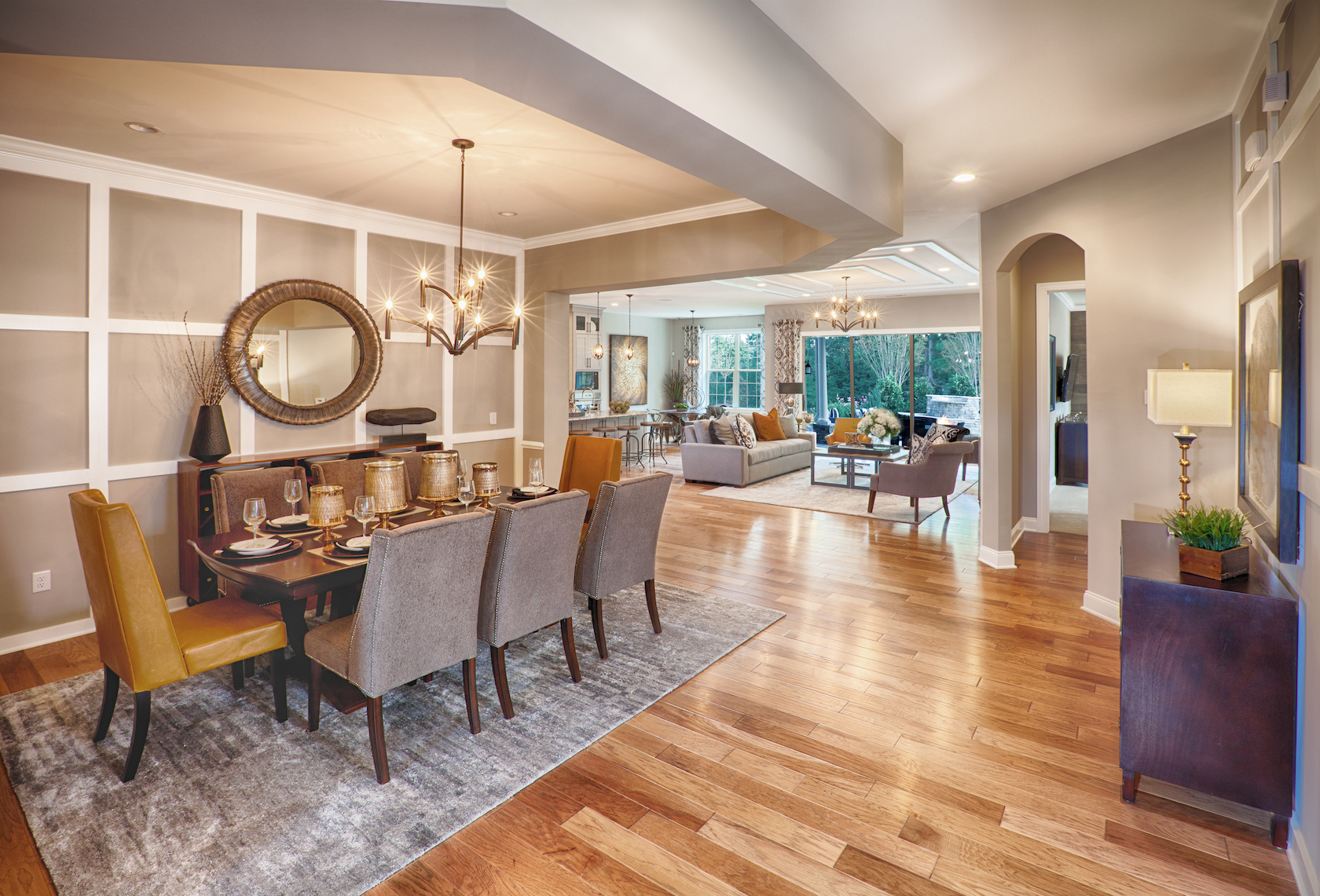 dining room in open concept house