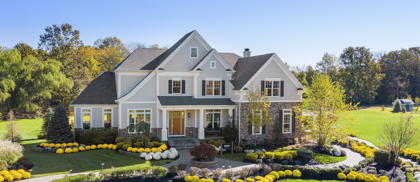 Home exterior with landscaping in New Jersey.
