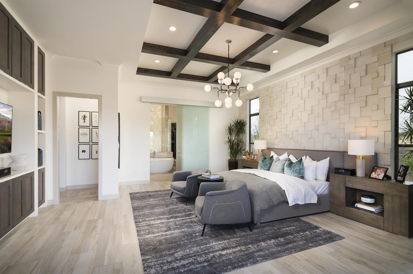 Minimalistic bedroom.