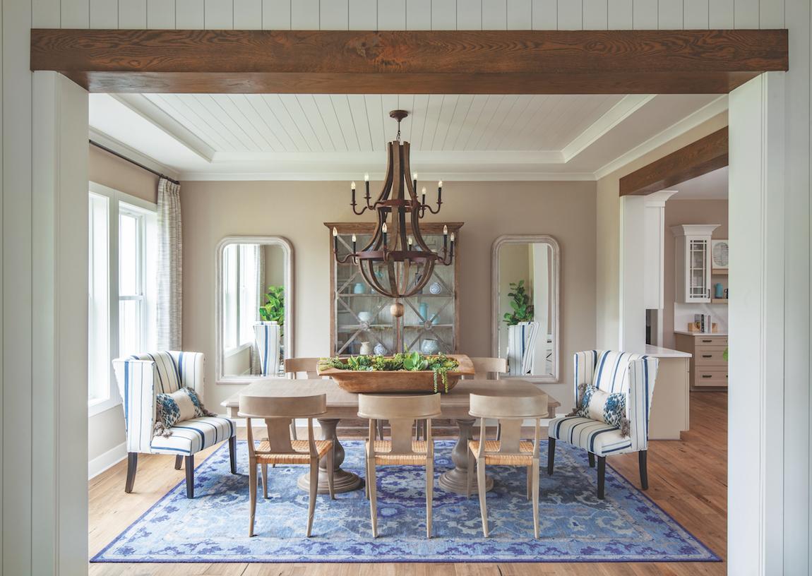 A farmhouse style dining room.