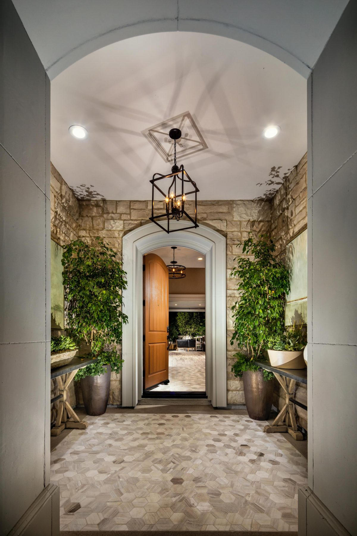 Entryway to a luxury home.