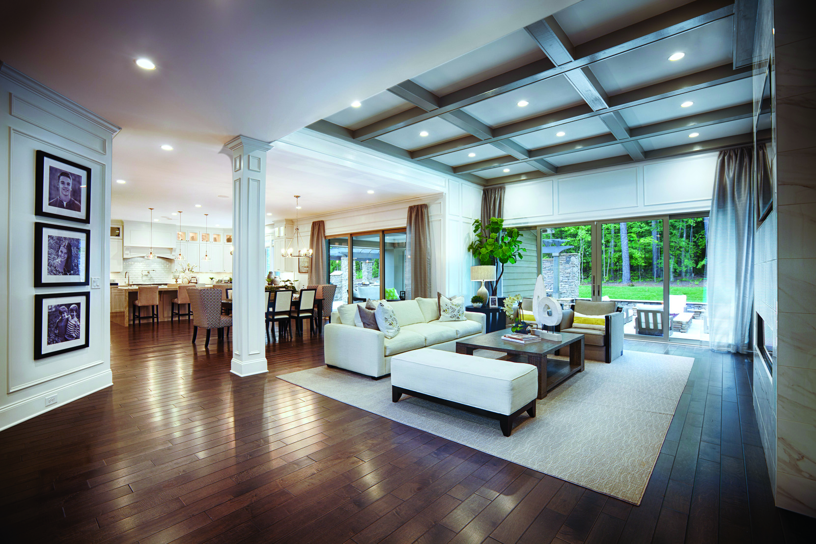 Open Floor Plan in Traditional Living Room