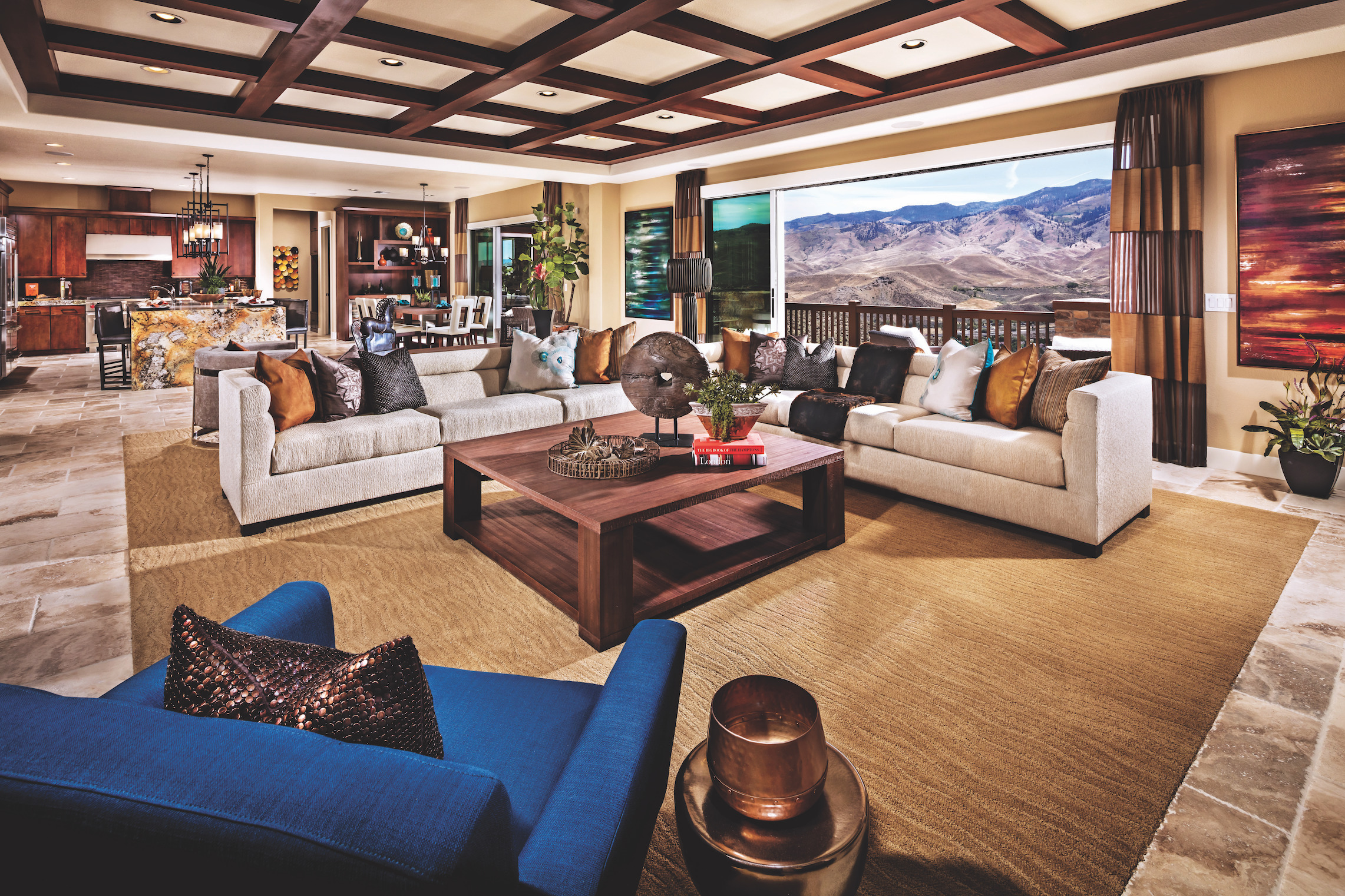 Living Room with an Open Floor Plan & Outdoor Views