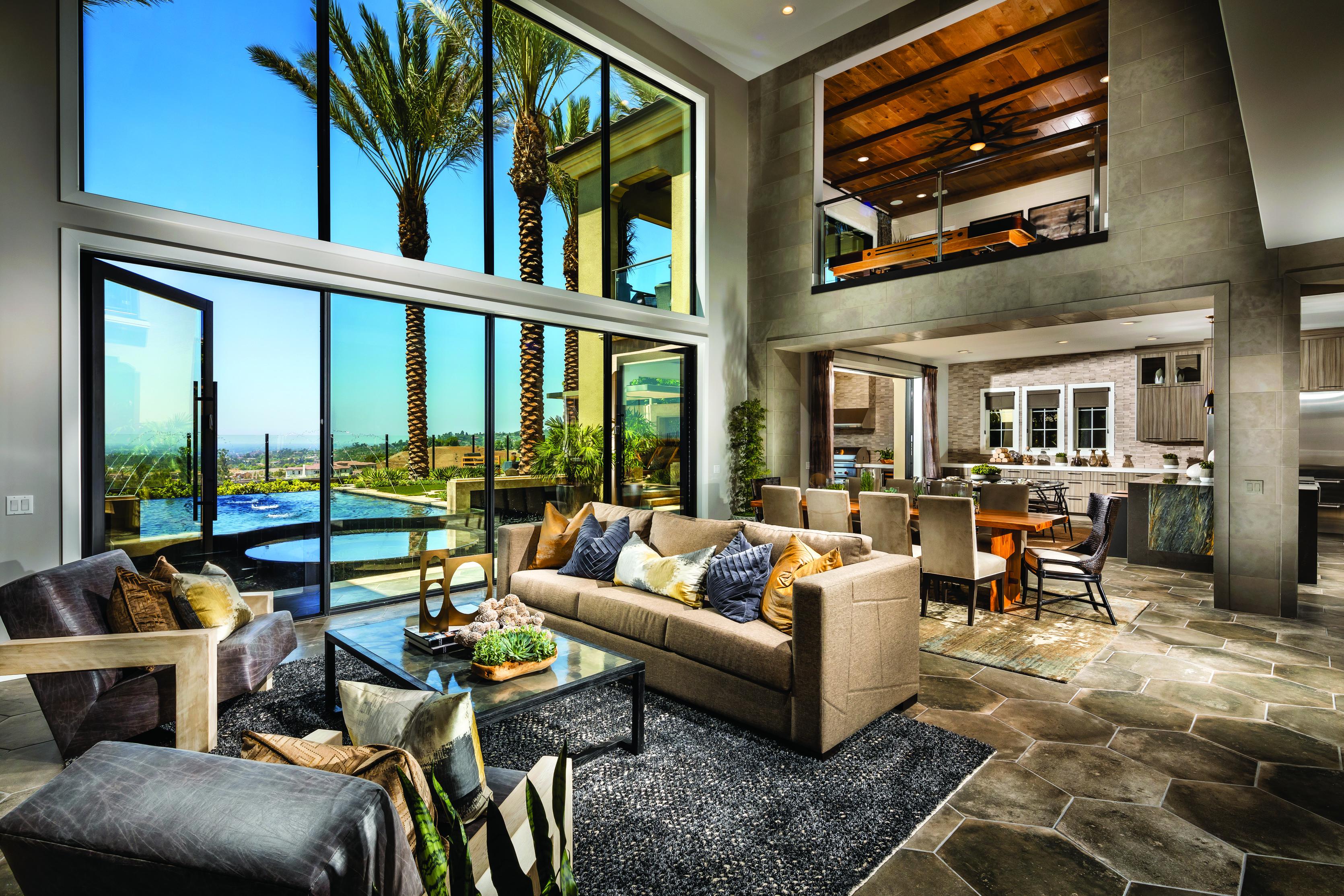 Modern, luxurious home layout.