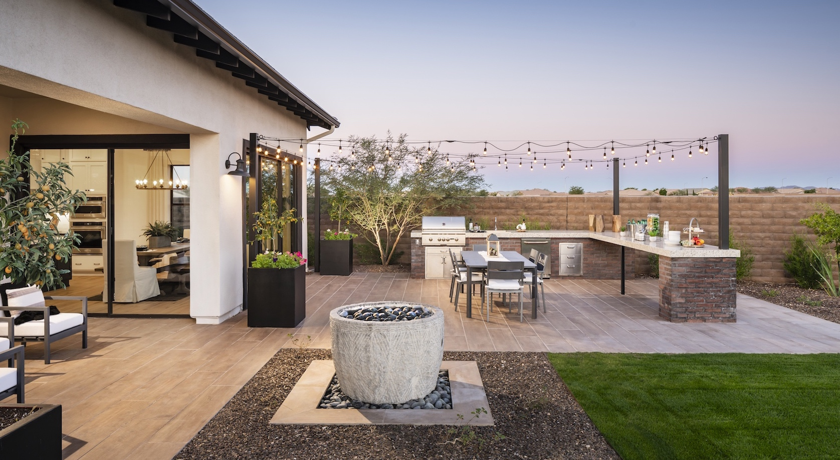 Backyard in a New Construction Home in Arizona
