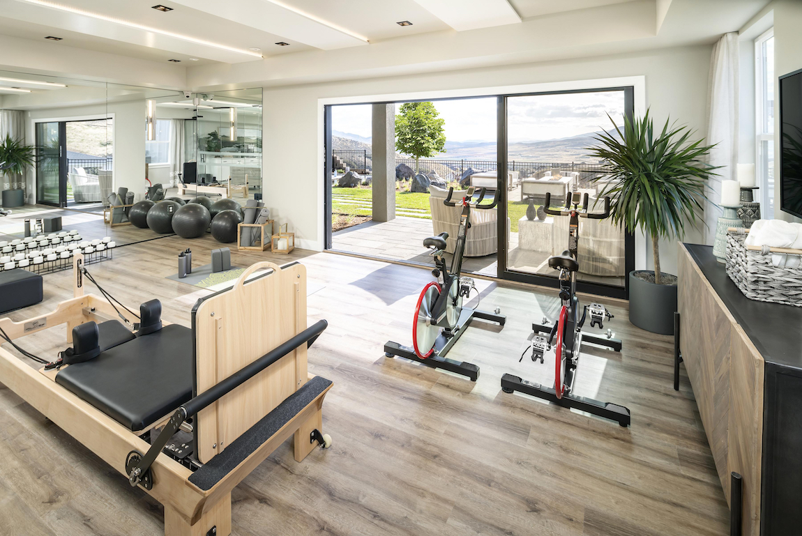 Modern Luxury House Plan Idea for a Home Gym