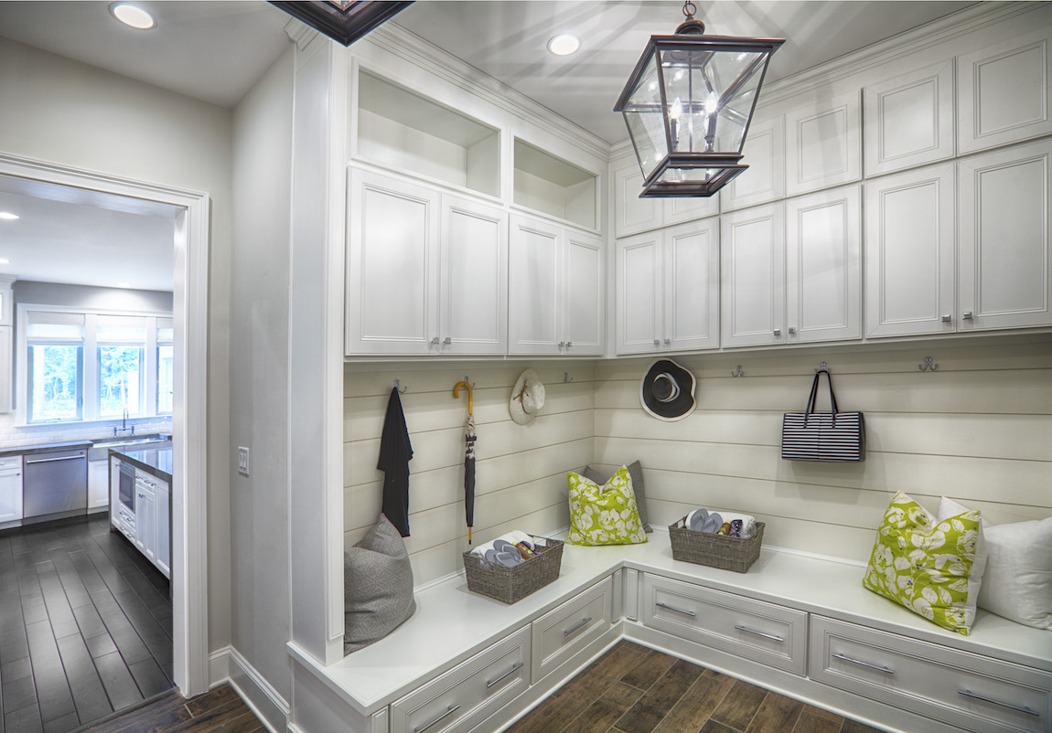 A modern home layout with a separate mudroom
