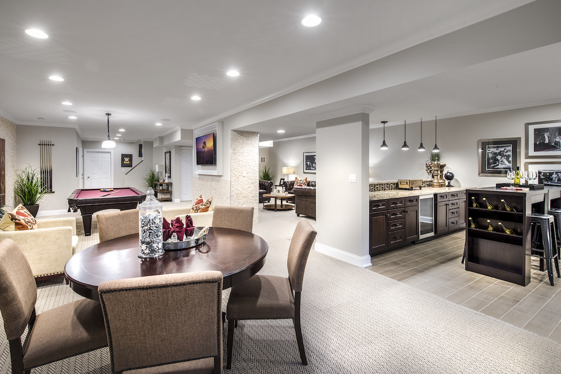 Finished Basement in a New Construction Home
