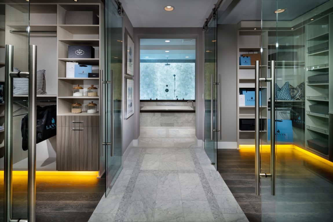 Two Master Closets with Extra Storage Space