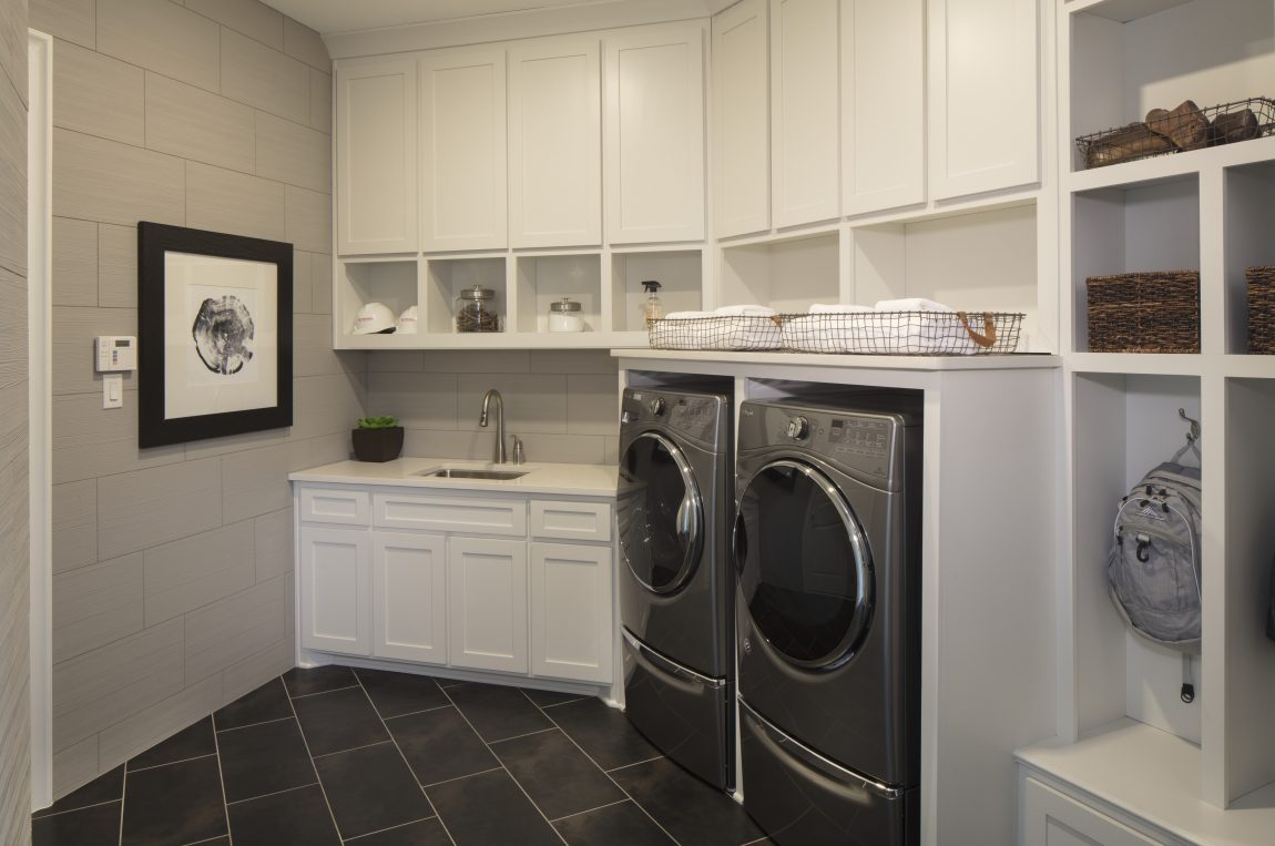 Laundry room in a house
