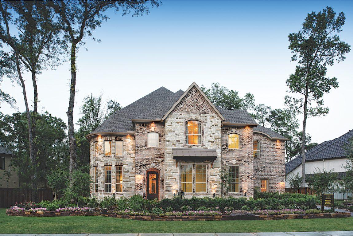 Brick house in Houston, Texas.