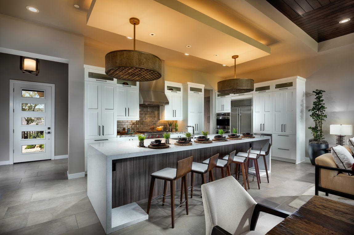 Transitional Style Gourmet Kitchen in a Modern Home