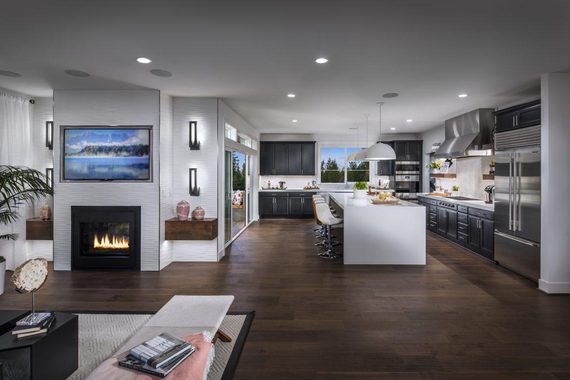 Open concept kitchen.