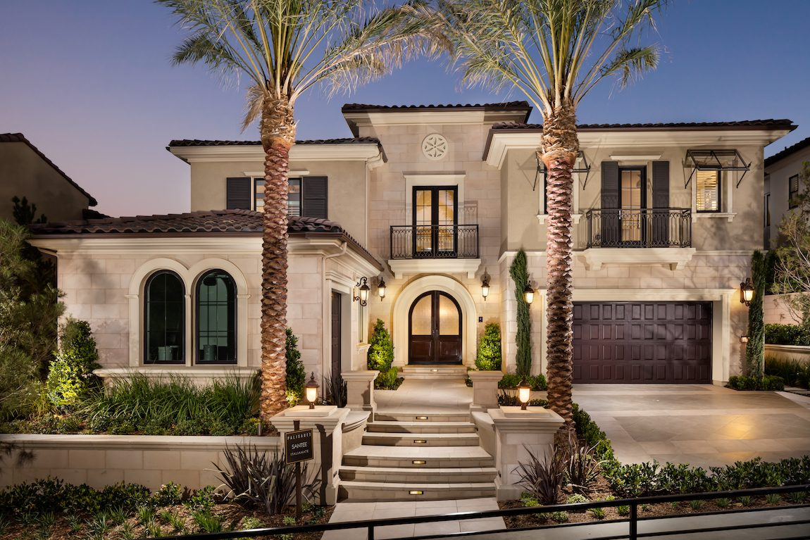 Home with brown exterior.