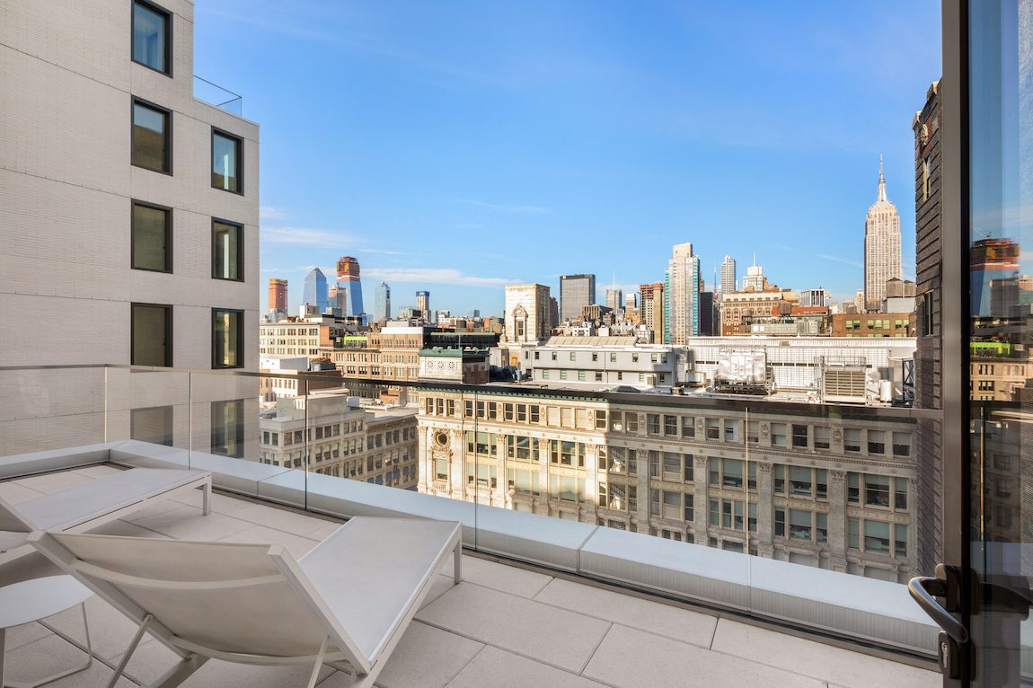 Patio views from city living property.