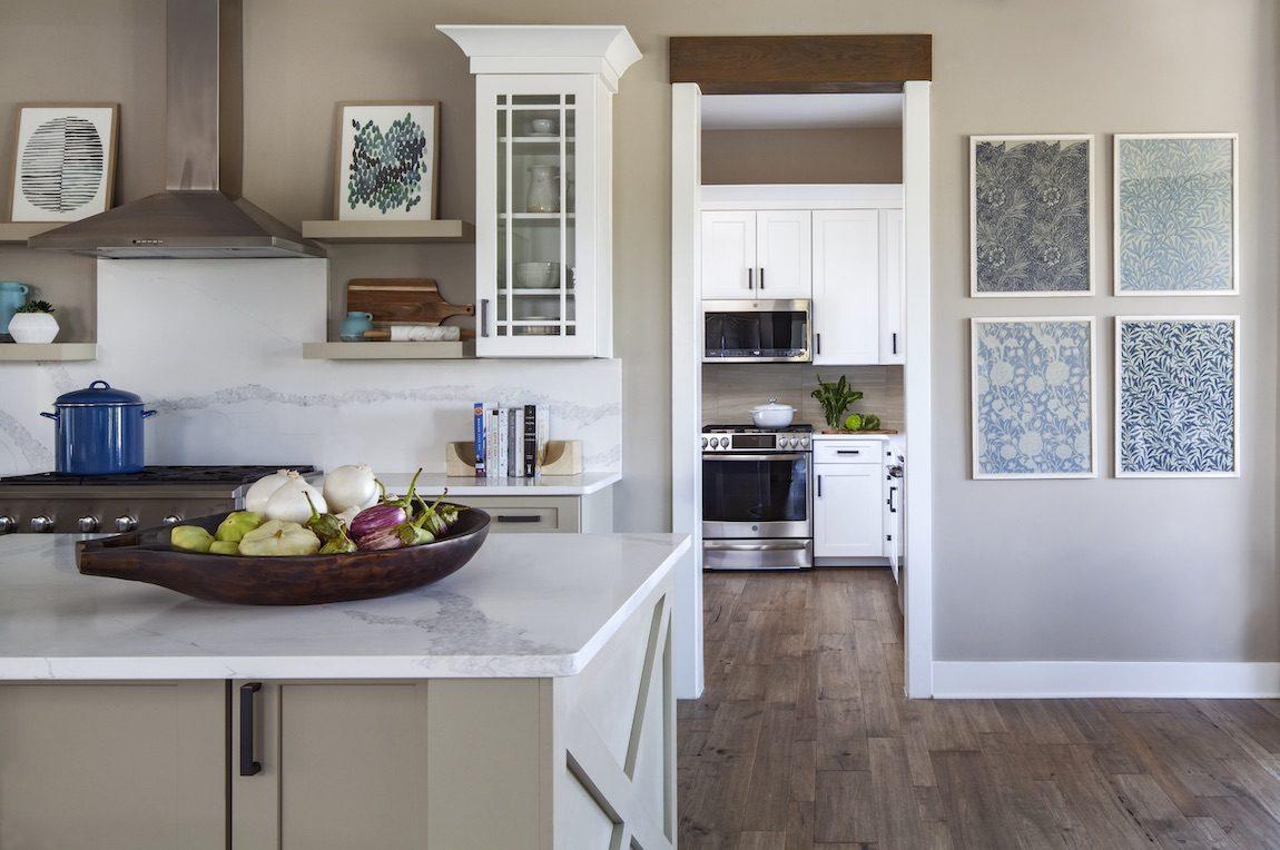 Modern farmhouse kitchen with photo gallery.