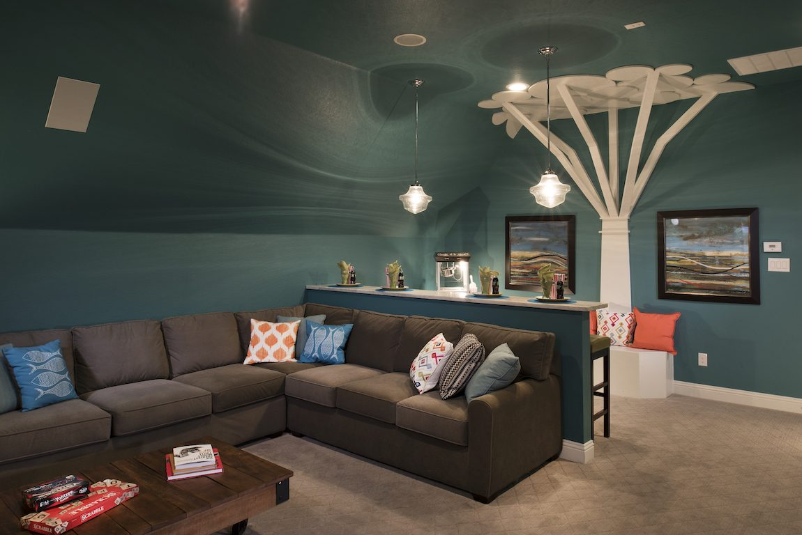 Tree house design in basement
