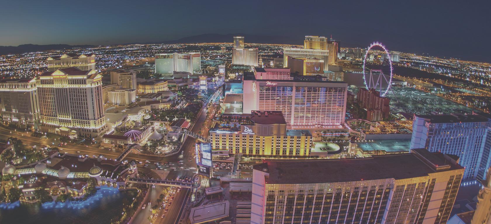 Aerial photo of Las Vegas skyline.