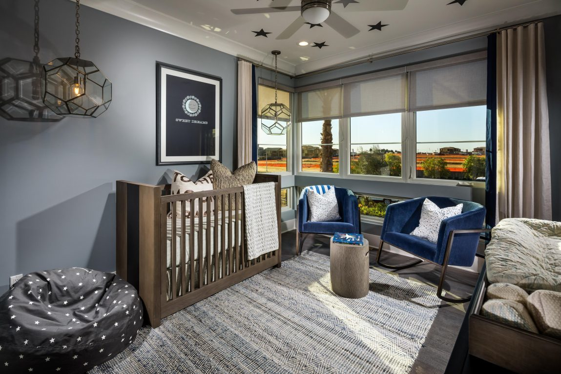 Luxury nursery with decorated with high-end furniture