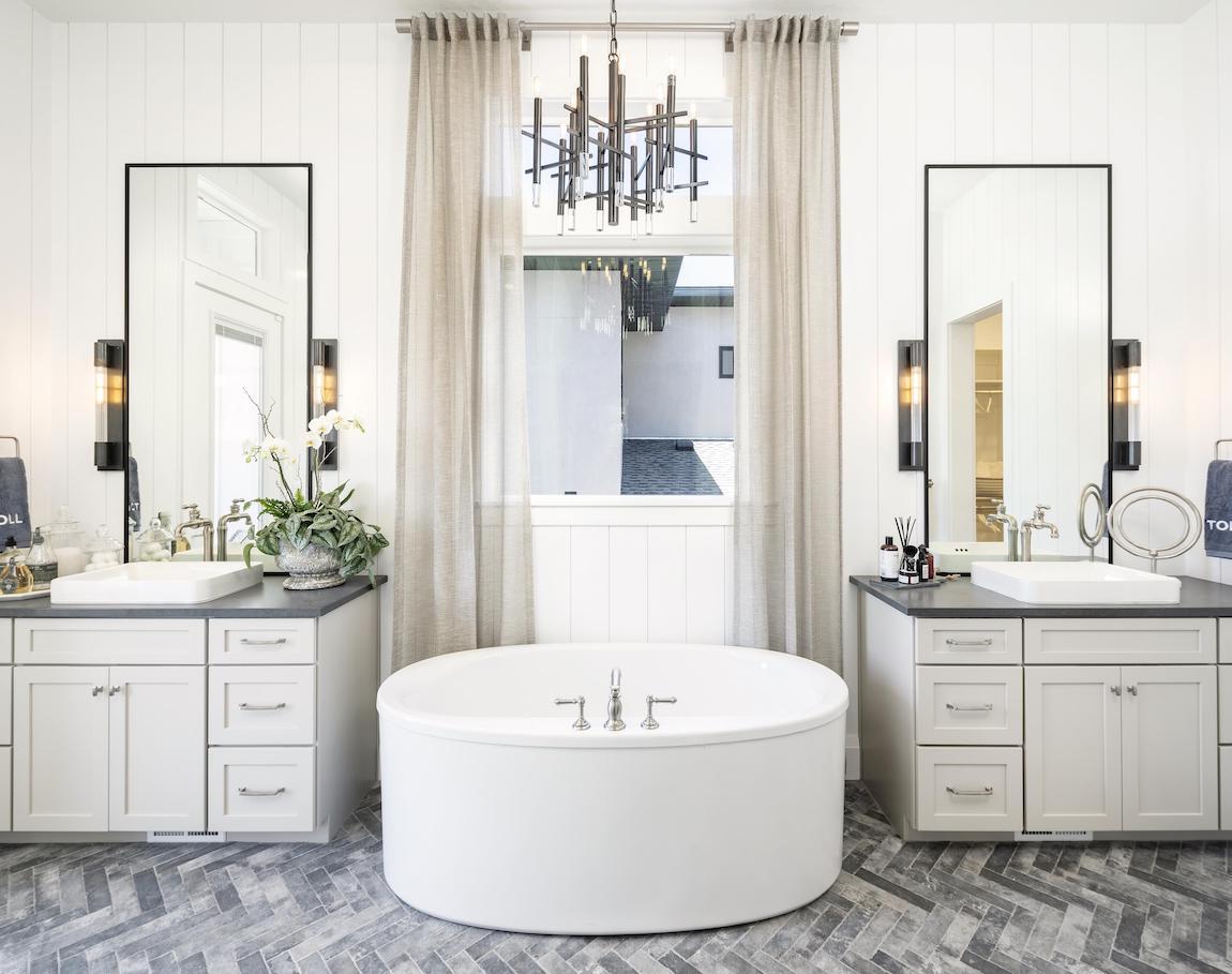Luxury bathroom featuring vox sink fixtures.