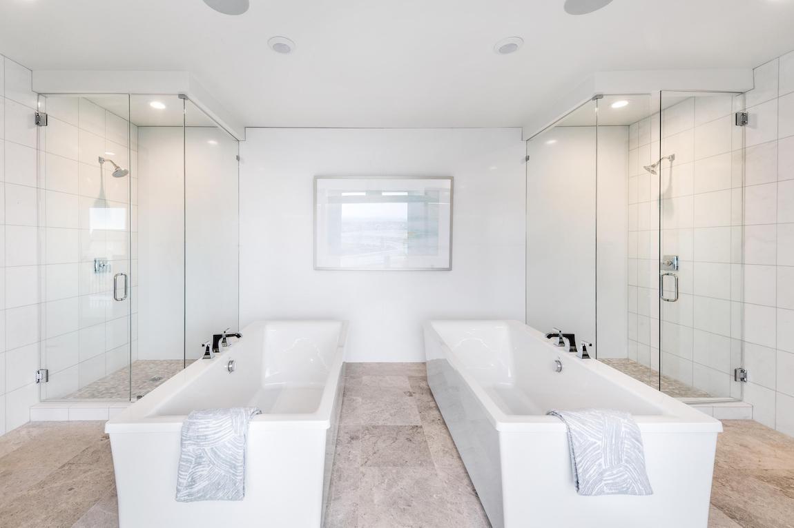 Two stargaze design bathtubs in a luxury bathroom