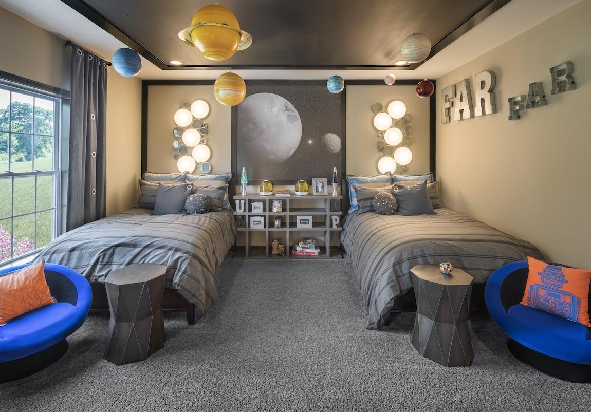 Astrologically designed shared bedroom