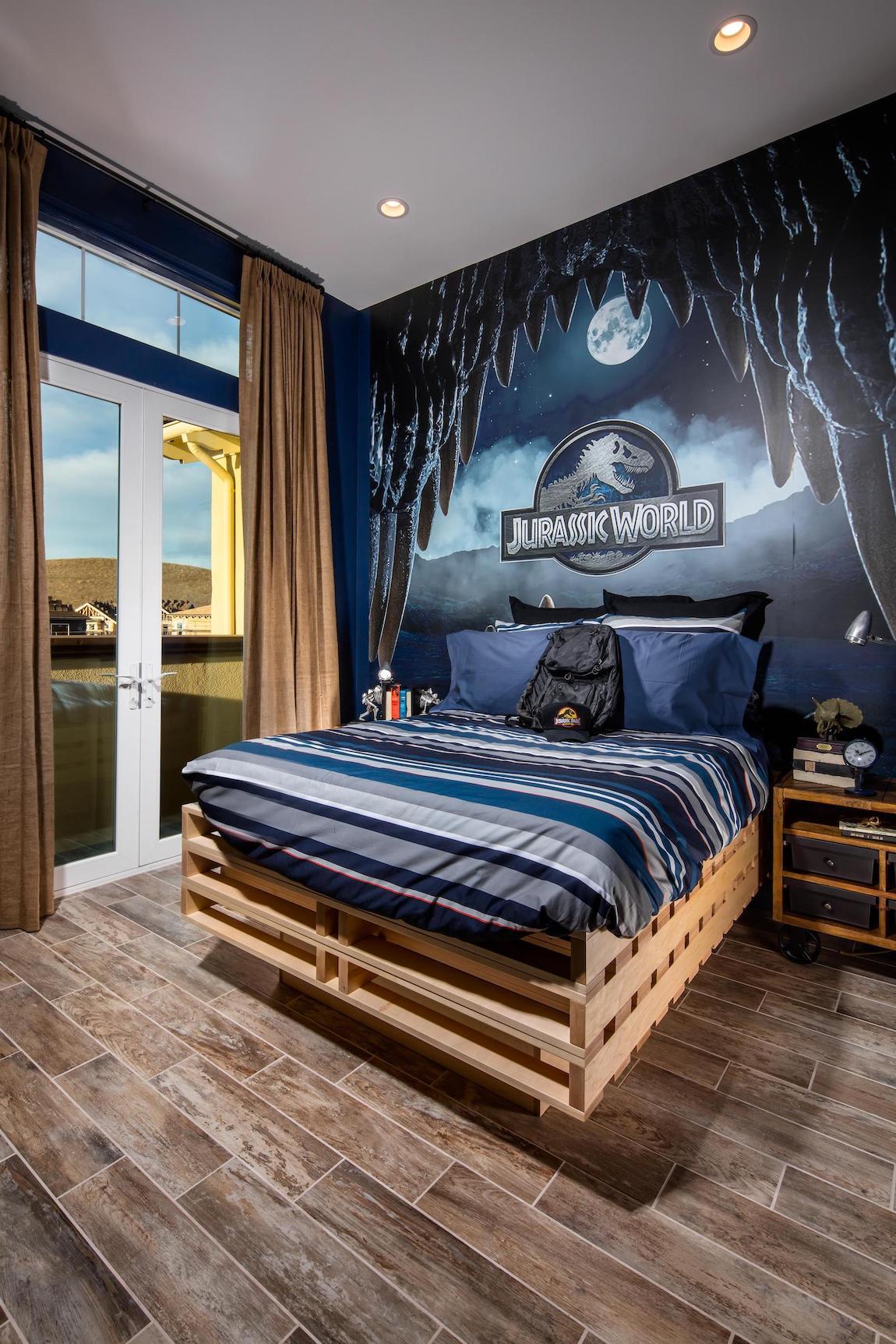 Jurassic World decorated kid's room