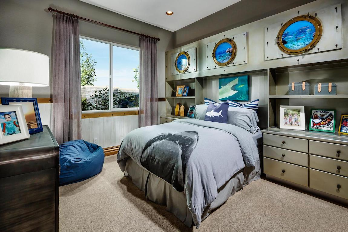 Jaws and ocean themed bedroom