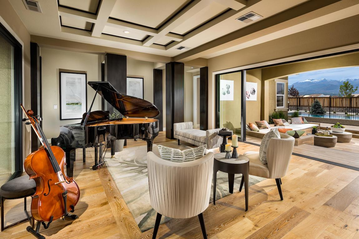 Music room connected to outdoor living space
