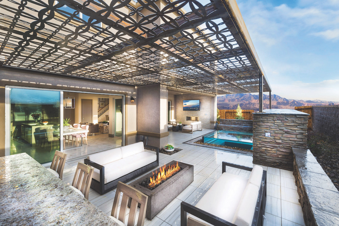 Patio with outdoor gas fire pit