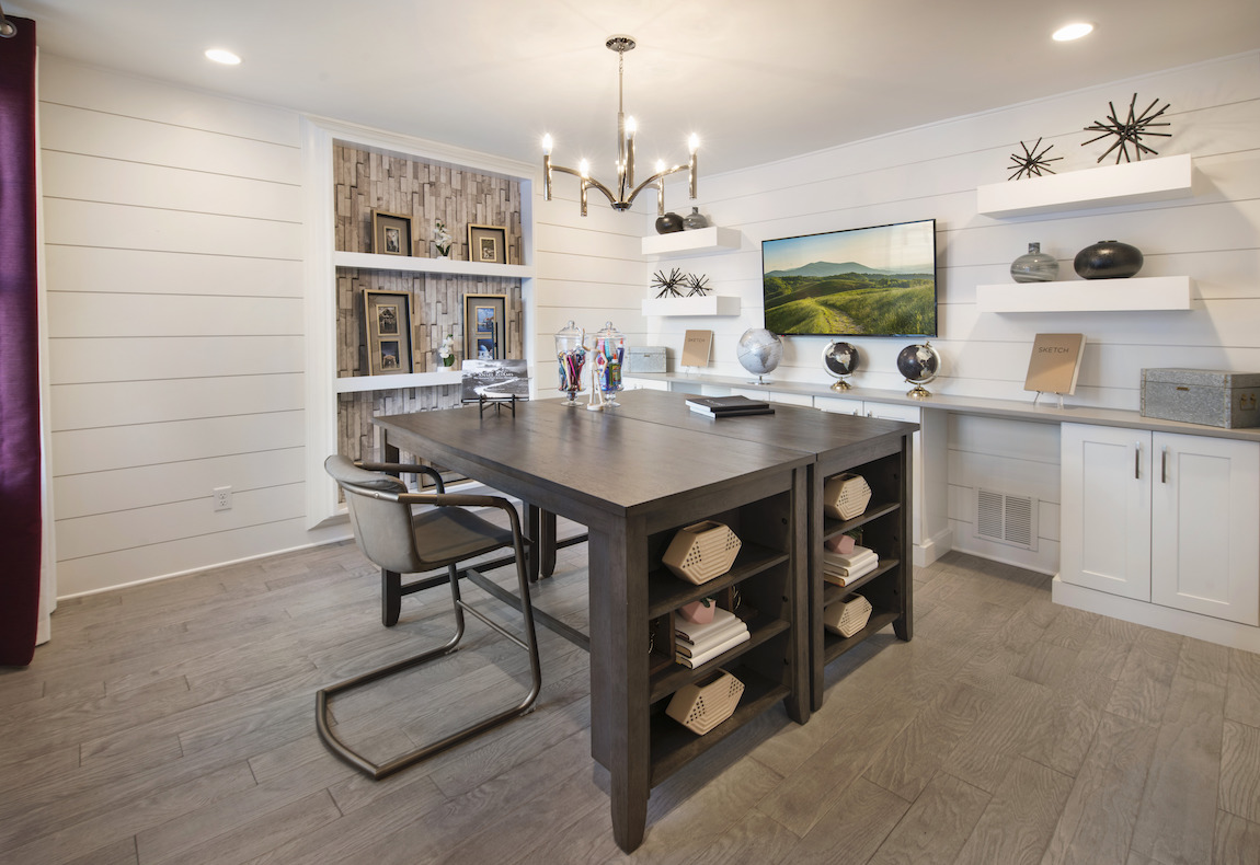 Flex space turned into charming, rustic craft room