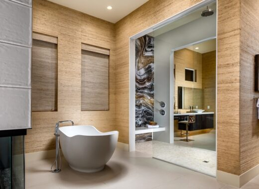 Spa-Like Master Bathroom With a Freestanding Bathtub