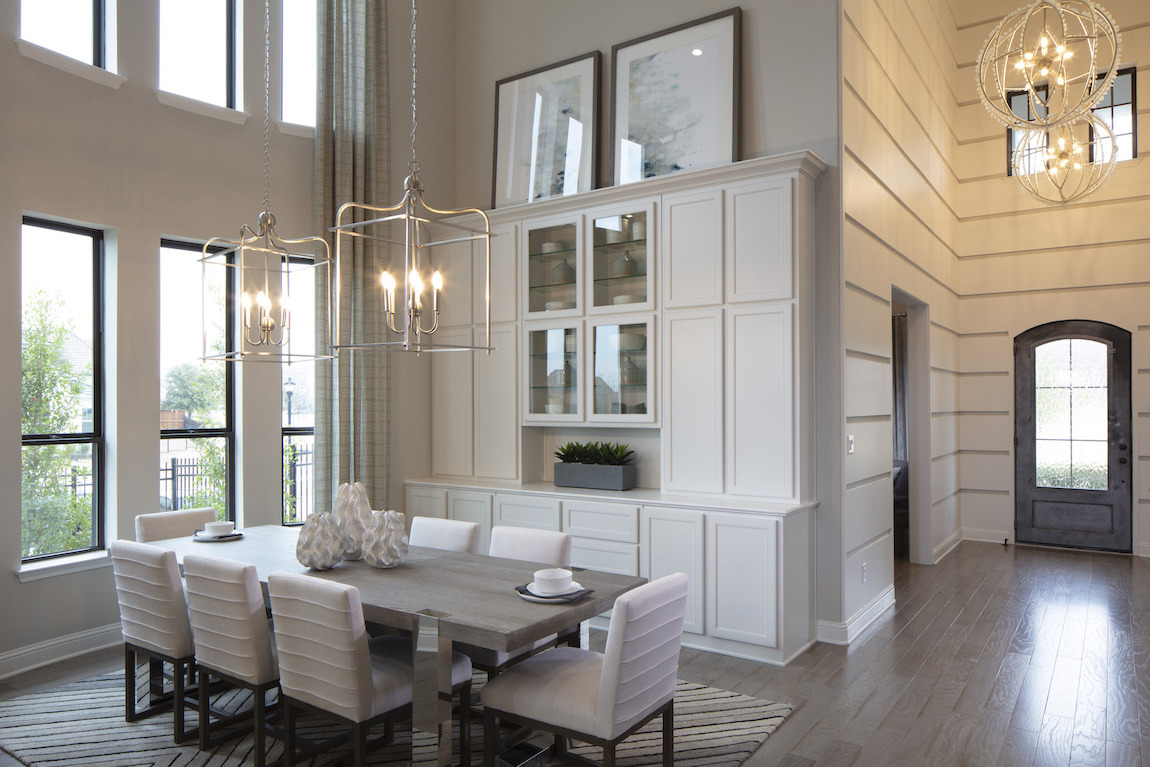 caged dining room chandelier