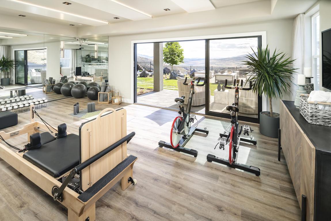 Flex room converted into home gym