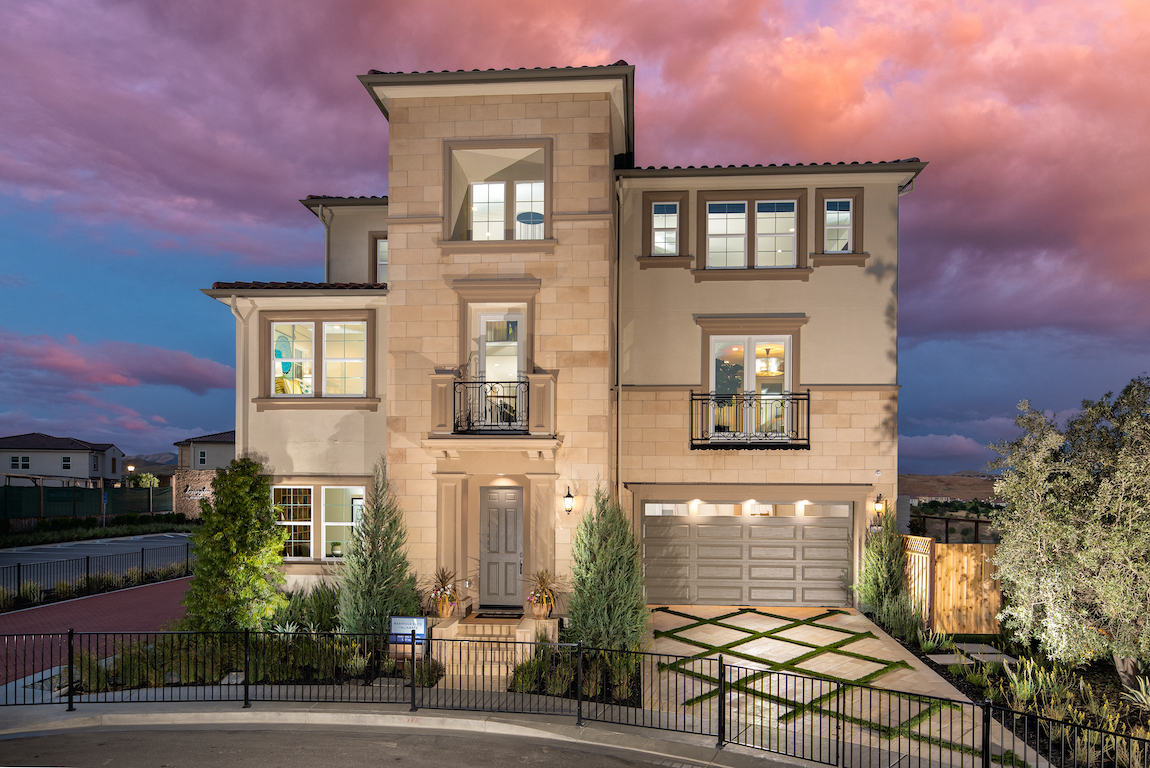 Home with three levels in California.