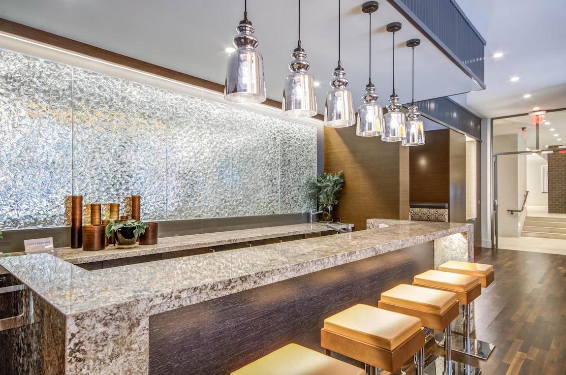 mirrored glass pendant lighting for bar