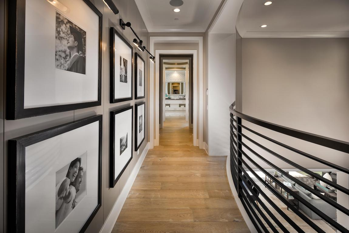 Hallway displaying sentimental family photos