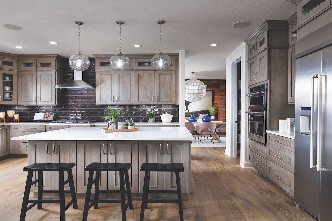 New construction home in Toll Brothers at Candelas community outside of Denver, Colorado.