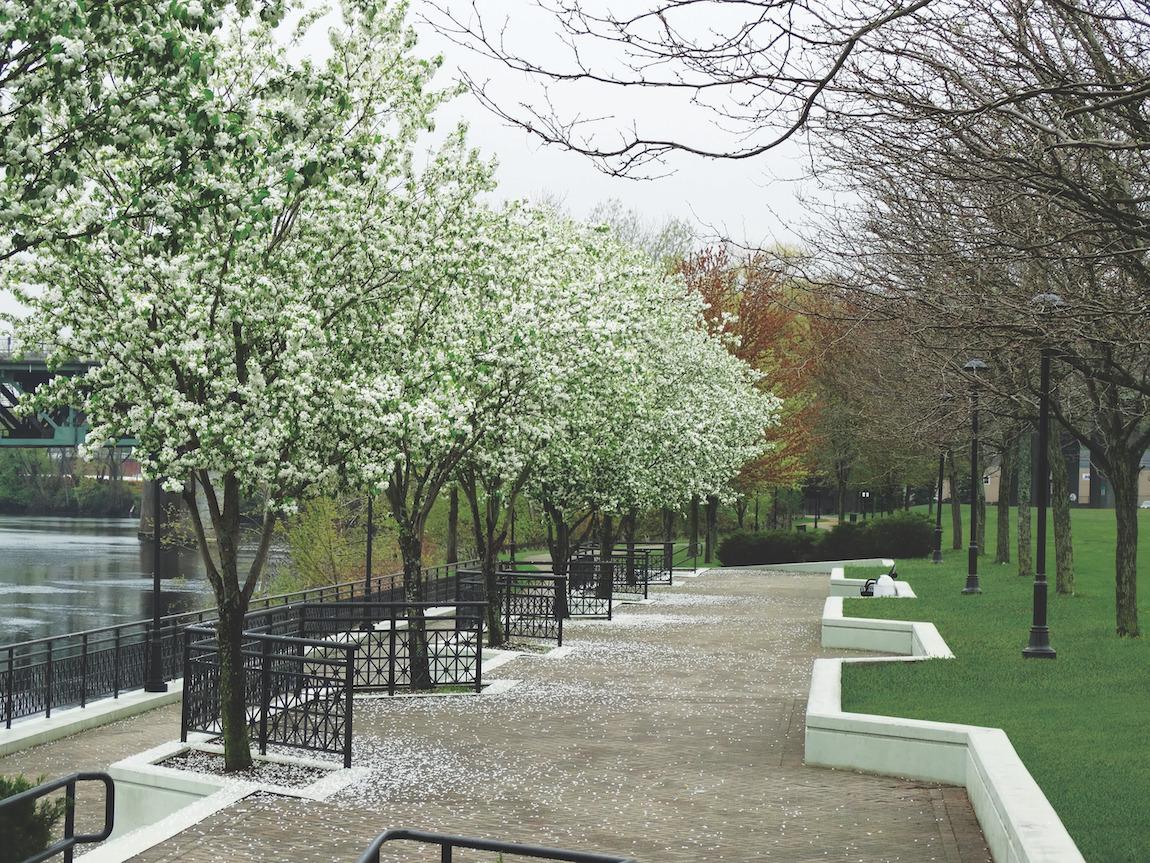 Riverside walkway near Toll homes in Atlanta, GA