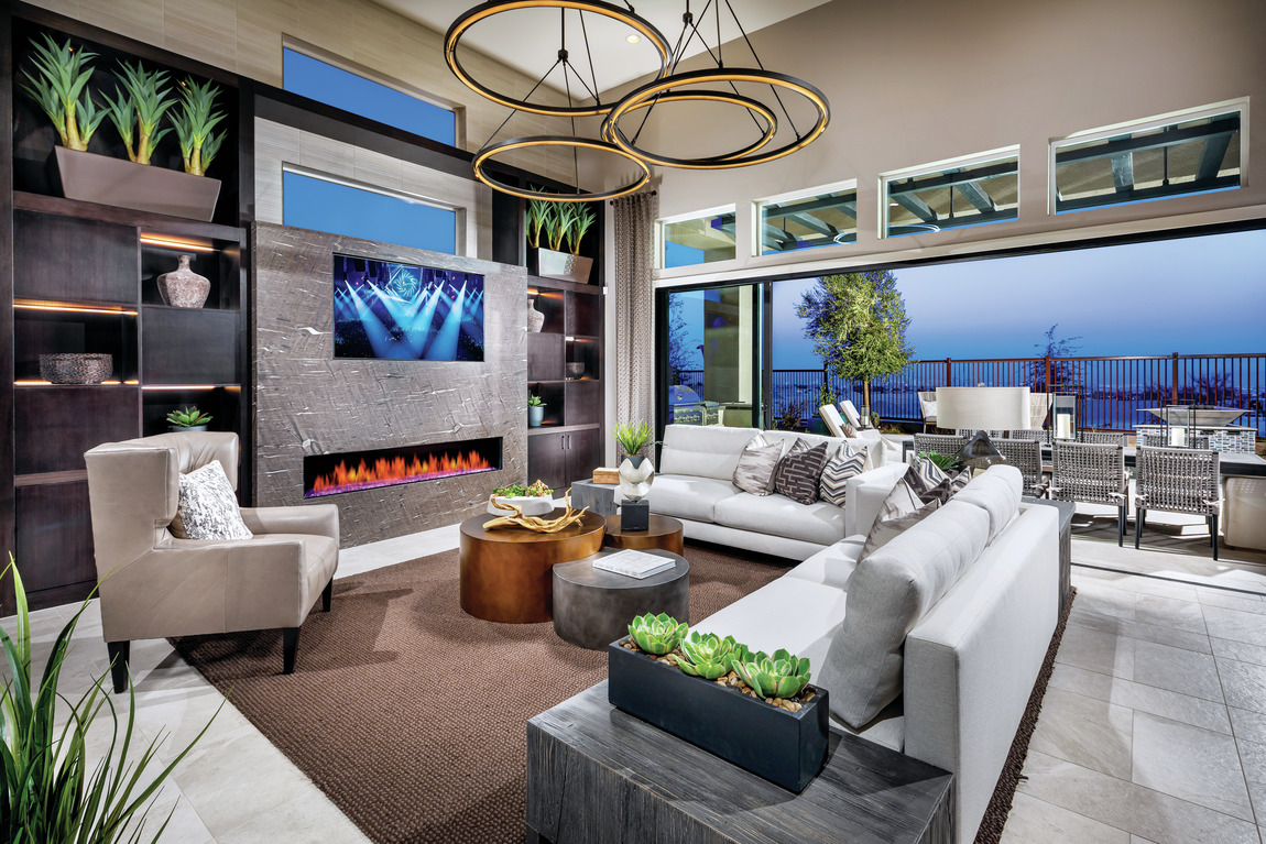 Amazing great room with spacious indoor-outdoor transition