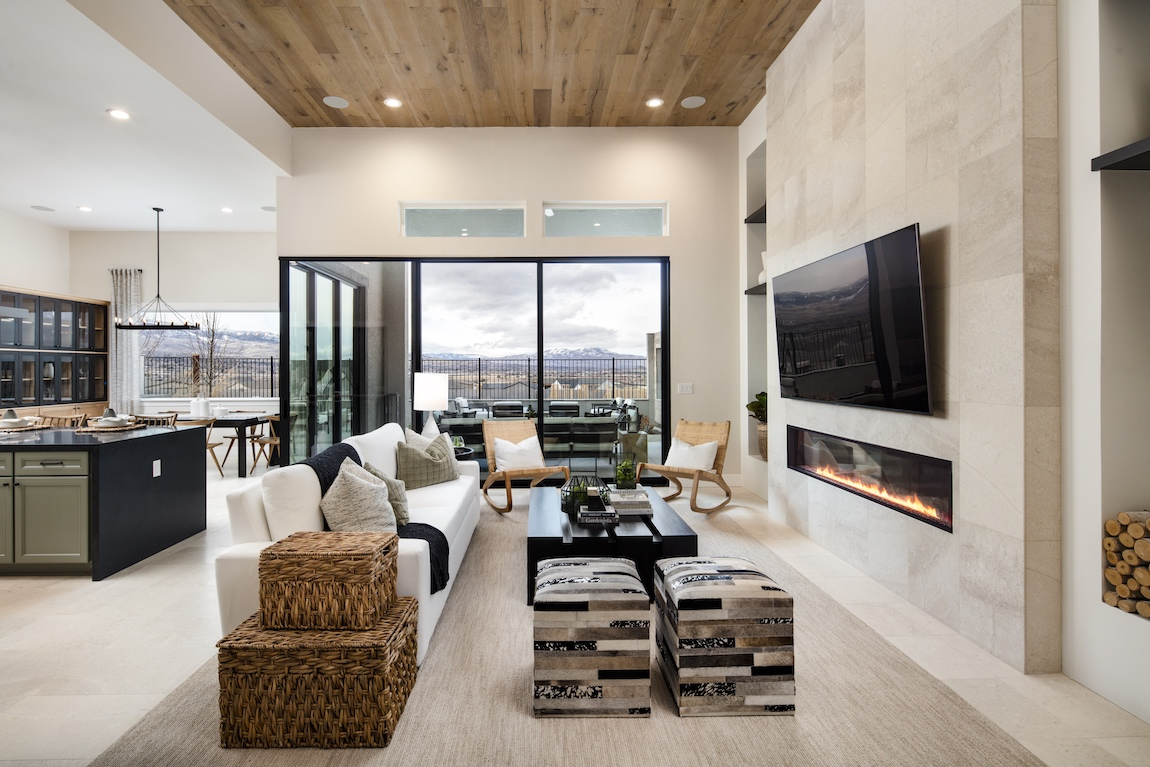 Toll Brothers home in Ridgeline at Caramella Ranch with mountain views.