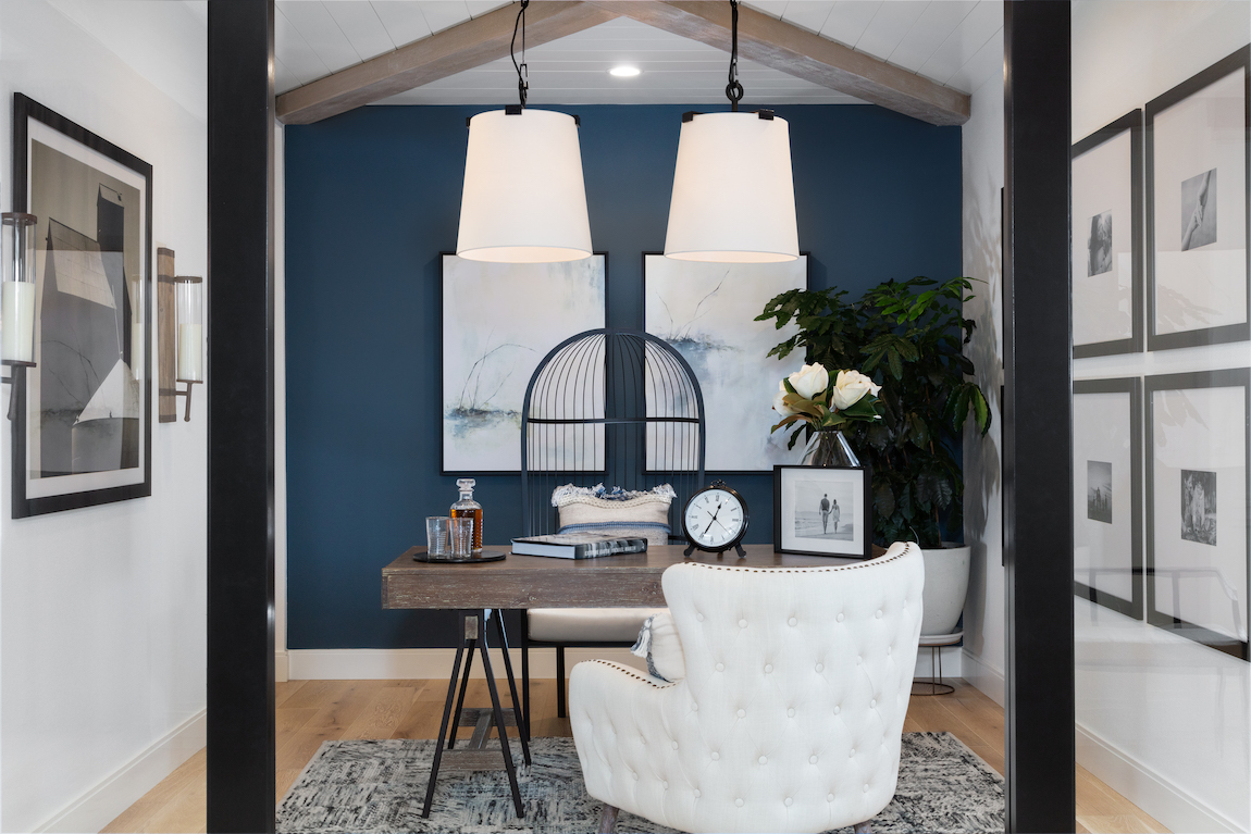 Home office featuring Naval, Sherwin-Williams 2020 Color of the Year